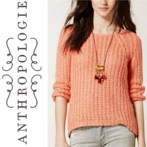 Anthro | Knitted & Knotted Sunstitch Pullover